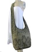 BTP! Owl Hippie Boho Sling Cross body Bag Shoulder Messenger Purse Large