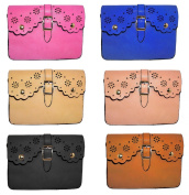 Leather Diecut Double Pocket Cell Phone Cross Body Bag, Assorted - Colours Vary