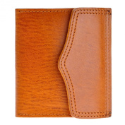ZLYC Minimalist Handmade Vegetable Tanned Leather Card Case Holder Cion Purse