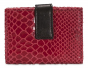 Brunhide Womens Crocodile Patterned Genuine Leather Credit Card Holder Wallet -16 Card Slots & Notes Section # 244-300