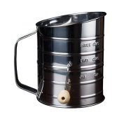 Kitchen Winners 3 Cup Crank Stainless Steel Flour Sifter