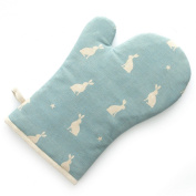 Rushbrookes Stargazing Hare 100% Cotton Oven Gauntlet