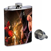 Ninja Perfection In Style 240ml Stainless Steel Whiskey Flask with Free Funnel D-003