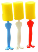 Set Of 2 Brush Hot Water Bottle/Kitchen Stoves Gap Cleaning Brush Random Colour