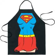 Superman Supergirl Apron Black