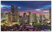 jakarta-indonesia-evening-city-metropolis-skyscrapers Furniture & Decorations magnet fridge magnets