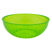Party Essentials N823413 Hard Plastic 5680ml Serving Bowl, Neon Green