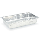 Vollrath 90023 Super Pan 3 Full Size S/S 5.1cm - 1.3cm H Perforated Pan