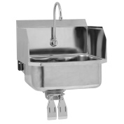 Columbia Products Sani-Lav Sink With Splash Guards - 48cm X 46cm - Wall Mount
