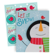 The Gift Wrap Company 20 Count Boxed Holiday Cards, Small, Snowman Dream, Multicolor