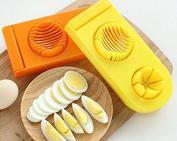 2in1 Egg Slicer Kitchen Tool Egg Chip Slicer Multifunction Fancy Cut Divider Egg Slicer