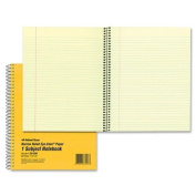 National Brand Brown Board Cover Notebook, Narrow with Margin, 1-Subject, 25cm x 20cm , 80 Sheets