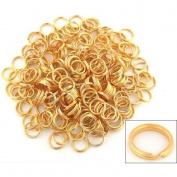 250 Gold Plated Split Ring Chain Parts Findings 6mm
