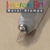 ImpressArt, Metal Jewellery Design Stamp, Diamond Ring, 6mm