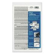 Chartpak 01000 Press-On Vinyl Letters & Numbers, Self Adhesive, Black, 0.6cm h, 610/Pack