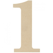 MPI MDF Classic Font Wood Letters and Numbers, 24cm , Number 1