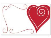 50 pack Heart Swirl Border- NoSentiment Enclosure Cards
