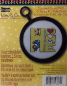 """Studio 18 Mary & Co. Counted Cross Stitch """" Home """" 14 Count Cotton Aida Fabric"""