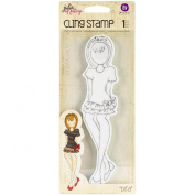 Prima Marketing Julie Nutting Mixed Media Cling Rubber Stamps, Dita