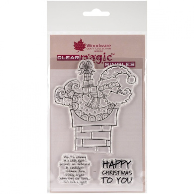 Woodware Craft Collection Christmas Delivery Stamp Sheet, 8.9cm by 14cm , Clear