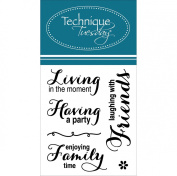 Technique Tuesday Living & Laughing Stamps, 5.1cm by 6.4cm , Clear