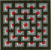 Easy Quilt Kit Boxed Maze!! Red, Black, White/Queen