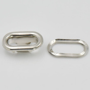 100 Sets Oval shaped metal Grommet Eyelets 7mm 13mm 25mm 30mm 37mm for Canvas Clothes Leather Self Backing Purse Buckle