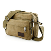Men Vintage Crossbody Canvas Messenger Shoulder Bag School Hiking Military Travel Satchel