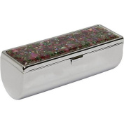 Budd Leather Mother Pearl Single Lipstick Holder