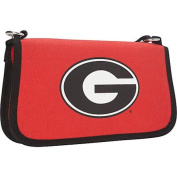 Ashley M University of Georgia Canvas Clutch Wallet with Strap