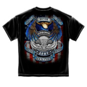 True Heroes Airborne Military T-Shirt by Erazor Bits, Black, 3XL