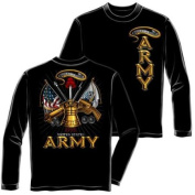United States Army Antique Armour Long Sleeve T-Shirt by Erazor Bits, Black, 2XL