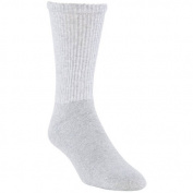 Gildan Men's Big and Tall Grey Crew Socks, 10-Pack