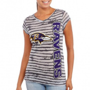 NFL Juniors Ravens V Neck Short Sleeve Tee