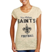 NFL Juniors Saints Short Sleeve Burnout Tee