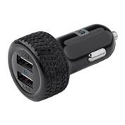 2-Port USB Car Charger, 4.8A Black