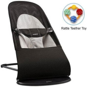 Baby Bjorn 005028US Bouncer Balance Soft- Mesh Black Grey with Rattle Teether T