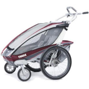 THULE 10101320 - Chariot CX 2 Double Stroller - Burgundy
