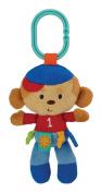 Kids Preferred Label Loveys On-The-Go Stroller Toy, Monkey