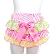Laura Dare Baby Girl Size 9-12M Pink Yellow Green Zebra Bloomer Panty