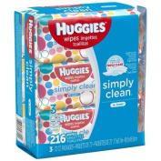 Huggies Simply Clean Fresh Baby Wipes, 3 packs of 72