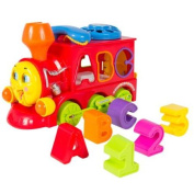 Bump and Go Action Learning Train Lights and Music Block Letters Shape Sorter Battery Operated