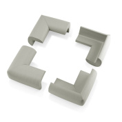 4Pcs Child Baby Kids Safety Corner Edge Protectors Soft Cover Protector Cushion Guard - Grey