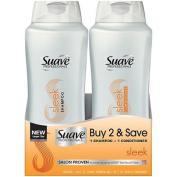 Suave Professionals Sleek Shampoo & Conditioner, 1660ml