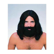 Black Beard & Wig Set Rubies 50737, One Size