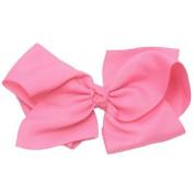 Reflectionz Girls Hot Pink Grosgrain Alligator Clippie Hair Bow