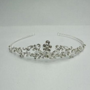 Girls Silver Rhinestones Precious Bridal Headpiece