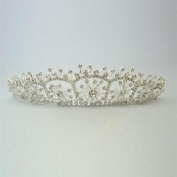 Girls Silver Shiny Floral Crystal Embellished Headpiece