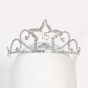 Angels Garment Girls Silver Princess Quinceanera Tiara Headpiece