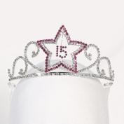 Angels Garment Girls Silver Fuchsia Princess Quinceanera Tiara Headpiece